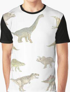 Dinosaur Pattern Graphic T-Shirt