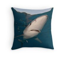 Torpedo Blue Throw Pillow