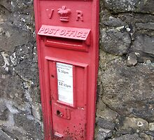 Royal Mail Traditional Red Wall mounted British Post Box by Grant Wilson