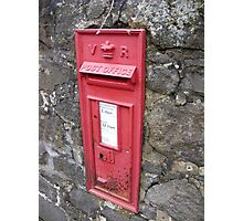 Royal Mail Traditional Red Wall mounted British Post Box Photographic Print