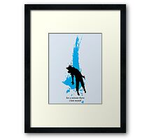 """""""For a minute there, I lost myself"""" - Radiohead - dark Framed Print"""