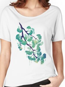 O Ginkgo (in Green) Women's Relaxed Fit T-Shirt