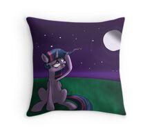 "Twilight Sparkle ~ ""First Gray Hair"" Throw Pillow"