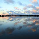 Bibra Lake setting sun by Karen Stackpole