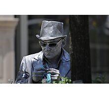 Silver man Photographic Print