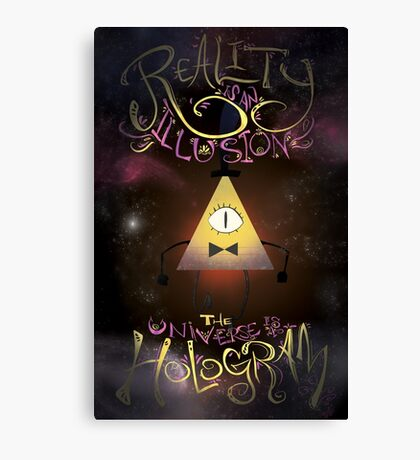 Reality is an Illusion - Bill Cipher Canvas Print