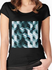 Blue abstract background Women's Fitted Scoop T-Shirt