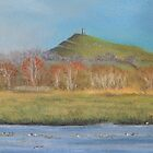 Glastonbury Tor In Autumn by Alexandra Lavizzari