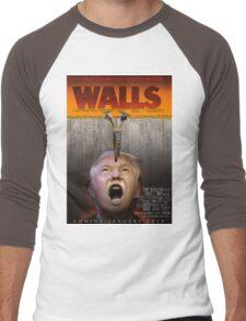 Walls(Trump) Men's Baseball ¾ T-Shirt