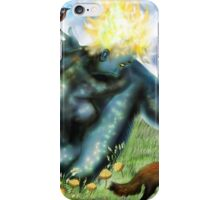 The Loneliness of the long Distance Summer or The Light from Houses [Digital Fantasy Figure Illustration] iPhone Case/Skin