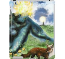 The Loneliness of the long Distance Summer or The Light from Houses [Digital Fantasy Figure Illustration] iPad Case/Skin