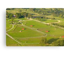 Red Sheds Canvas Print