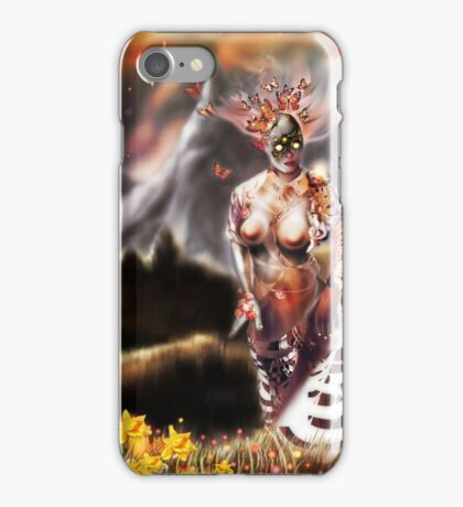 To a Plateau of Green Grass [Digital Fantasy Figure Illustration] iPhone Case/Skin