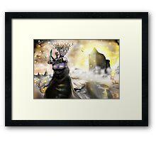 The Crystallization [Digital Fantasy Figure Illustration] Framed Print