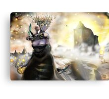 The Crystallization [Digital Fantasy Figure Illustration] Metal Print