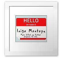 Introduction to Inigo Framed Print