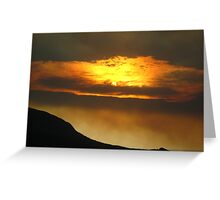 Tasmanian Sunset Greeting Card