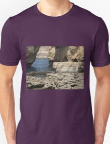 Through the grotto to the blue. Unisex T-Shirt