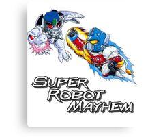 Japanese Beast Wars Optimus Prime vs Megatron Canvas Print