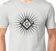 Freemasonry, Square and Compass, G = Great Architect / God / Grand Lodge / Geometry Unisex T-Shirt