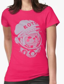 Spaceman cat Womens Fitted T-Shirt
