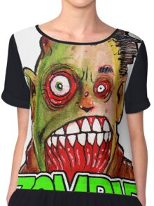 ZOMBIE title with zombie head Chiffon Top