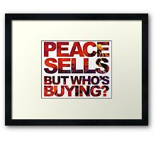 Megadeth - Peace Sells But Who's Buying ? Framed Print