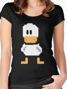 Cute simple Duck Women's Fitted Scoop T-Shirt