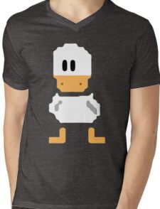Cute simple Duck Mens V-Neck T-Shirt