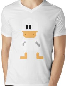 Cute simple Duck Mens V-Neck T-Shirt