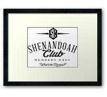 Shenandoah Club Framed Print