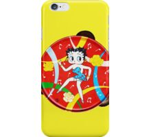 Vintage Betty Boop Tambourine (on yellow) iPhone Case/Skin