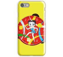 Vintage Betty Boop Tambourine (on yellow) iPhone Case/Skin