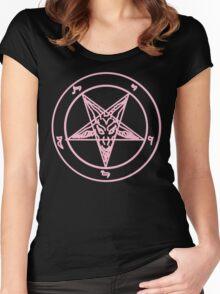 Pink Baphomet Women's Fitted Scoop T-Shirt