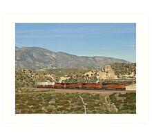 BNSF # 7602 at Cajon Pass Art Print
