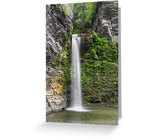 Eagle Cliff Falls Plunge Greeting Card