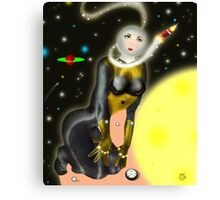 Lady Moon and the Solar expedition [Digital Fantasy Figure Illustration] Canvas Print