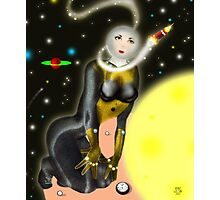 Lady Moon and the Solar expedition [Digital Fantasy Figure Illustration] Photographic Print