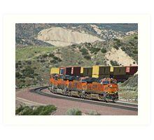 BNSF # 7818 at Cajon Pass Art Print