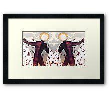 Falling in line [Mirrored version] Digital Fantasy Figure Illustration Framed Print