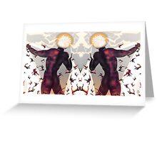 Falling in line [Mirrored version] Digital Fantasy Figure Illustration Greeting Card