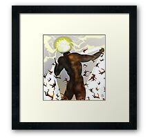 Falling in line [Digital Fantasy Figure Illustration] Framed Print