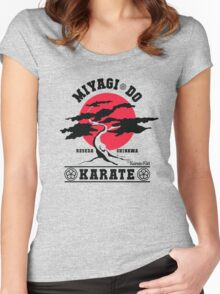 Karate Kid - Mr Miyagi Do Red Variant Women's Fitted Scoop T-Shirt