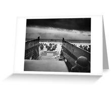 D Day - Omaha Beach Greeting Card