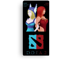 Lina & Crystal Maiden Dota 2 Anime Style Canvas Print