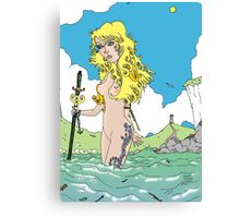 She was the Storm [Fantasy Figure Illustration] Canvas Print
