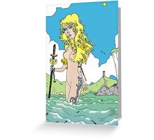 She was the Storm [Fantasy Figure Illustration] Greeting Card