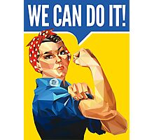 Low-Poly Rosie The Riveter Photographic Print