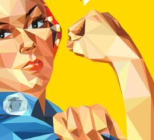 Low-Poly Rosie The Riveter Sticker