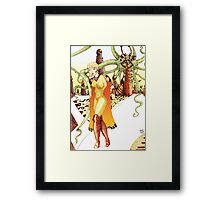 Futuristic Woman [Fantasy Figure Illustration] Framed Print